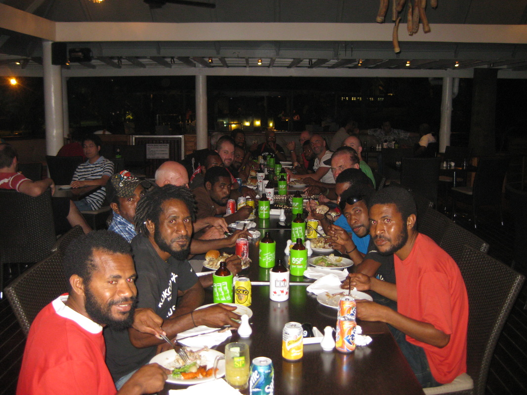 Final night dinner with the porters